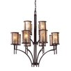 <strong>Elk Lighting</strong> Barringer 12 Light Chandelier and Shade