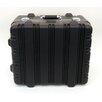 Platt Heavy-Duty Polyethylene Case with Wheels and Telescoping Handle in Black: 17 x 19 x 11