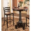 Indigo Creek Pub Table and Bar Stool Set in Black