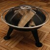 Fire Sense Steel Charcoal / Wood Fire Pit