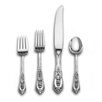 Rose Point 4 Piece Dinner Flatware Set with Oval Soup Spoon