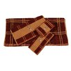 HiEnd Accents Embroidered Deer Plaid 3 Piece Towel Set