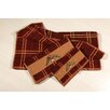 <strong>HiEnd Accents</strong> Embroidered Acorn Plaid 3 Piece Towel Set