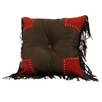 HiEnd Accents Tooled Pillow with Scallop