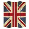 "Screen Gems 72"" X 48"" Union Jack 4 Panel Room Divider"