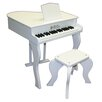 <strong>Elite Baby Grand Piano in White</strong> by Schoenhut
