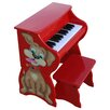 25 Key Doggy Piano & Bench in Red