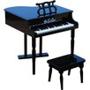 Schoenhut 30 Key Classic Baby Grand Piano in Black