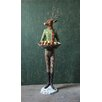 Creative Co-Op Camp Deer Man with Decorative Bowl Statue