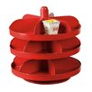 Creative Co-Op Waterside Round Metal Rotating 3-Tier Vintage Reproduction Candy Bowl