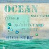 <strong>Vintage Signs</strong> Ocean Wall Art by Suzanne Nicoll Vintage Advertisement Plaque