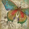 Vintage Signs Butterfly 1 Right Wall Art by Suzanne Nicoll Graphic Art Plaque