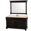 """Wyndham Collection Andover 60"""" Single Bathroom Vanity Set with Mirror"""