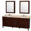 "Wyndham Collection Hatton 80"" Double Bathroom Vanity Set"