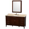 "Wyndham Collection Hatton 60"" Single Bathroom Vanity Set with Mirror"