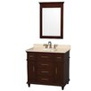 "Wyndham Collection Berkeley 36"" Single Bathroom Vanity Set with Mirror"