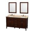 "Wyndham Collection Hatton 60"" Double Bathroom Vanity Set"