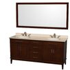 "Wyndham Collection Hatton 72"" Double Bathroom Vanity Set"