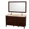 "Wyndham Collection Hatton 60"" Double Bathroom Vanity Set"