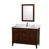"Wyndham Collection Hatton 48"" Single Bathroom Vanity Set with Mirror"