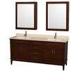 "Wyndham Collection Hatton 72"" Bathroom Vanity Set with Double Sink"