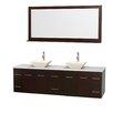 "Wyndham Collection Centra 80"" Double Bathroom Vanity Set"