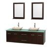 """Wyndham Collection Centra 72"""" Bathroom Vanity Set with Double Sink"""