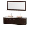 """Wyndham Collection Centra 80"""" Bathroom Vanity Set with Double Sink"""