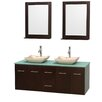 "Wyndham Collection Centra 60"" Bathroom Vanity Set with Double Sink"
