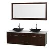 "Wyndham Collection Centra 72"" Bathroom Vanity Set with Double Sink"
