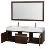 "Wyndham Collection Axa 60"" Bathroom Vanity Set with Double Sink"