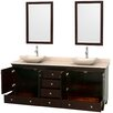 """Wyndham Collection Acclaim 80"""" Bathroom Vanity Set with Double Sink"""
