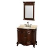 "Wyndham Collection Edinburgh 36"" Single Bathroom Vanity Set with Mirror"