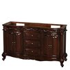 "Wyndham Collection Edinburgh 60"" Double Bathroom Vanity Base"