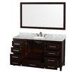 "Wyndham Collection Sheffield 60"" Bathroom Vanity Set with Single Sink"