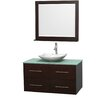 "Wyndham Collection Centra 42"" Single Bathroom Vanity Set with Mirror"