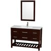 "Wyndham Collection Natalie 48"" Single Bathroom Vanity Set with Mirror"