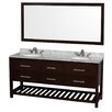 "Wyndham Collection Natalie 72"" Bathroom Vanity Set with Double Sink"
