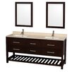 "Wyndham Collection Natalie 72"" Doule Bathroom Vanity Set with Mirror"