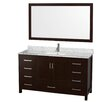 "Wyndham Collection Sheffield 60"" Bathroom Vanity Set with Single Sink"