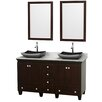 """Wyndham Collection Acclaim 60"""" Bathroom Vanity Set with Double Sink"""