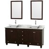 "Wyndham Collection Acclaim 72"" Bathroom Vanity Set with Double Sink"