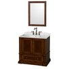 """Wyndham Collection Rochester 36"""" Bathroom Vanity Set with Single Sink"""