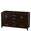 "Wyndham Collection Sheffield 60"" Double Bathroom Vanity Base"