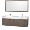 "Wyndham Collection Amare 72"" Double Vanity Set"