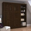 "Bestar Pur 83,63"" Full Storage Murphy Bed Kit"