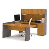 Bestar U-Shape Computer Desk with Hutch