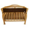 "Trend Lab 51"" Brown Fleece Front Crib Rail Cover"