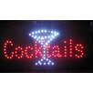 <strong>Cocktails with Martini Glass Sign</strong> by Creative Motion