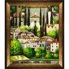 Tori Home Church in Cassone (Landscape with Cypress) by Gustav Klimt Framed Original Painting